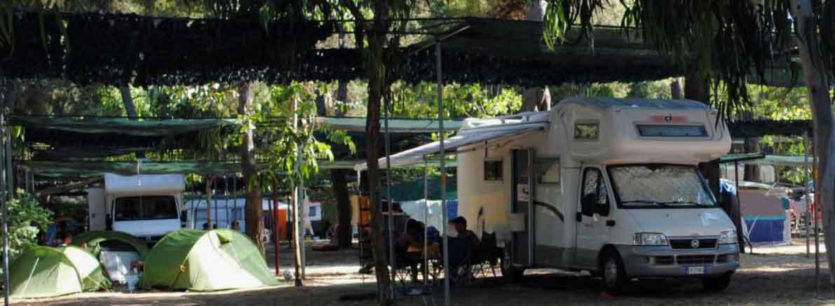 Piazzole per tende roulotte e camper Vieste Gargano