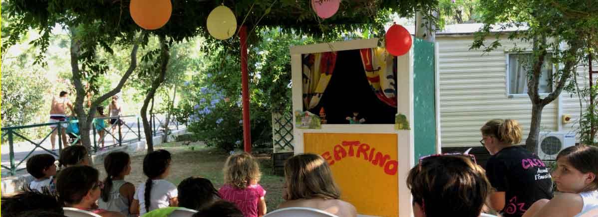 camping bungalow con teatrino vieste gargano